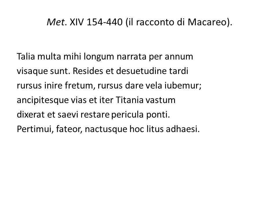 Met. XIV 154-440 (il racconto di Macareo).