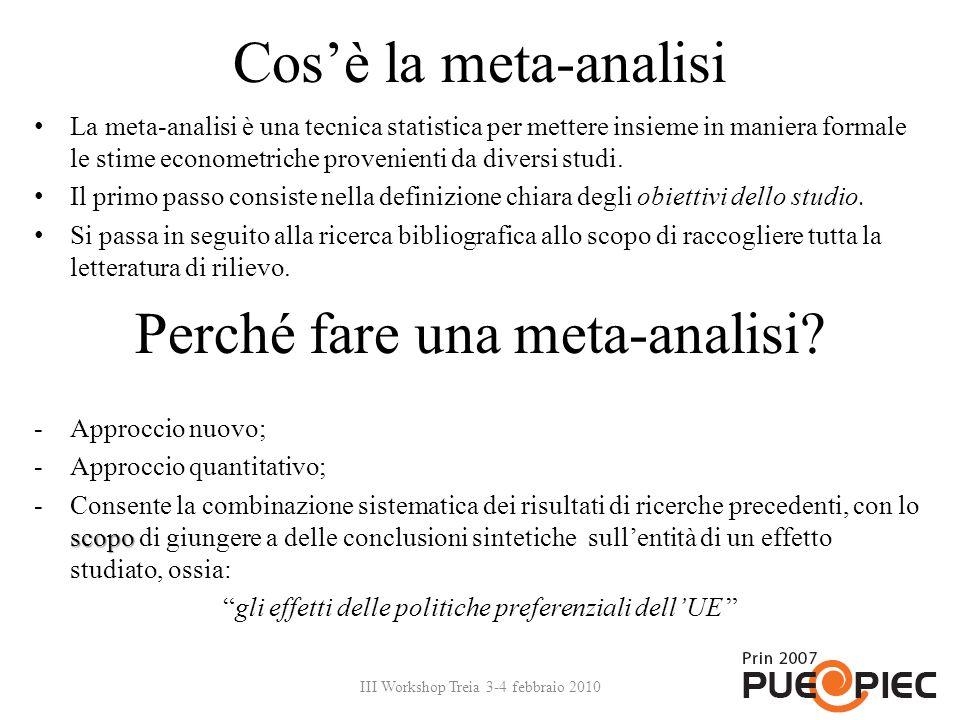 Perché fare una meta-analisi