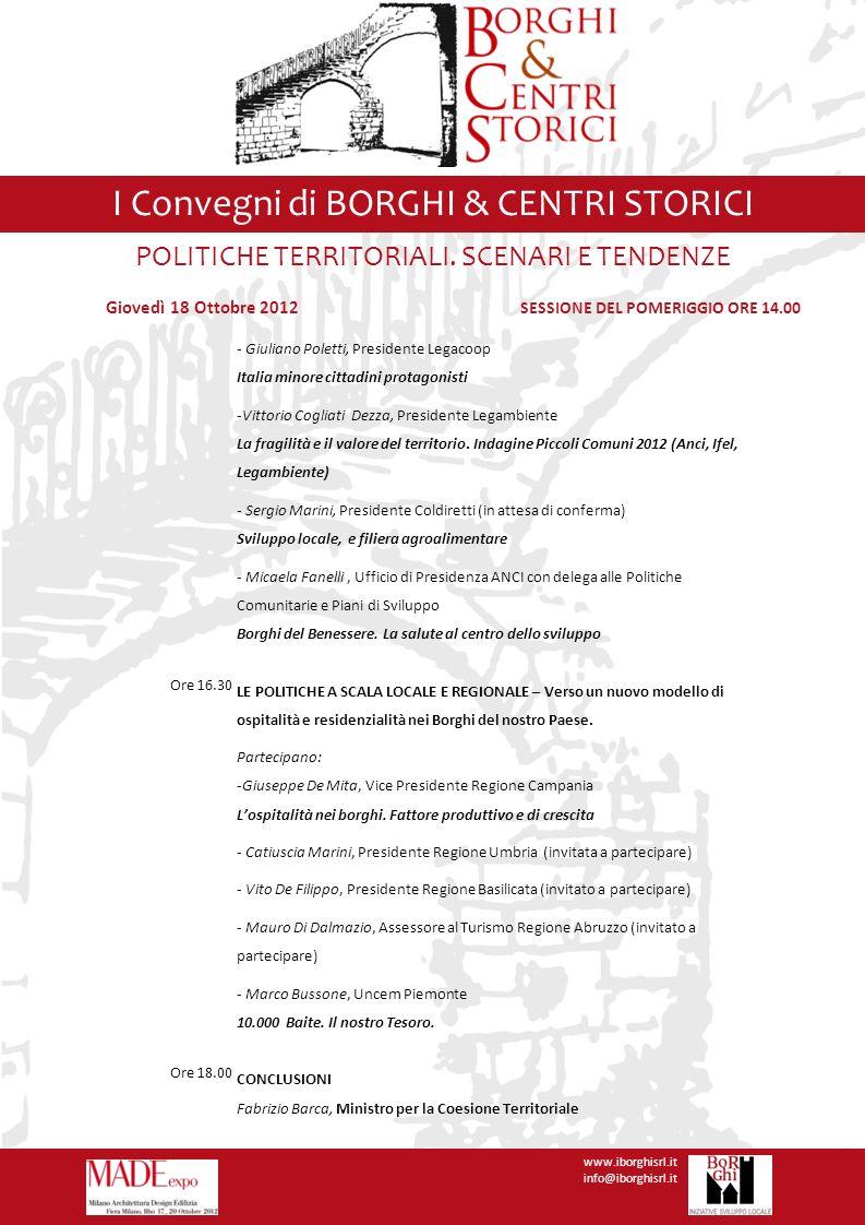 I Convegni di BORGHI & CENTRI STORICI