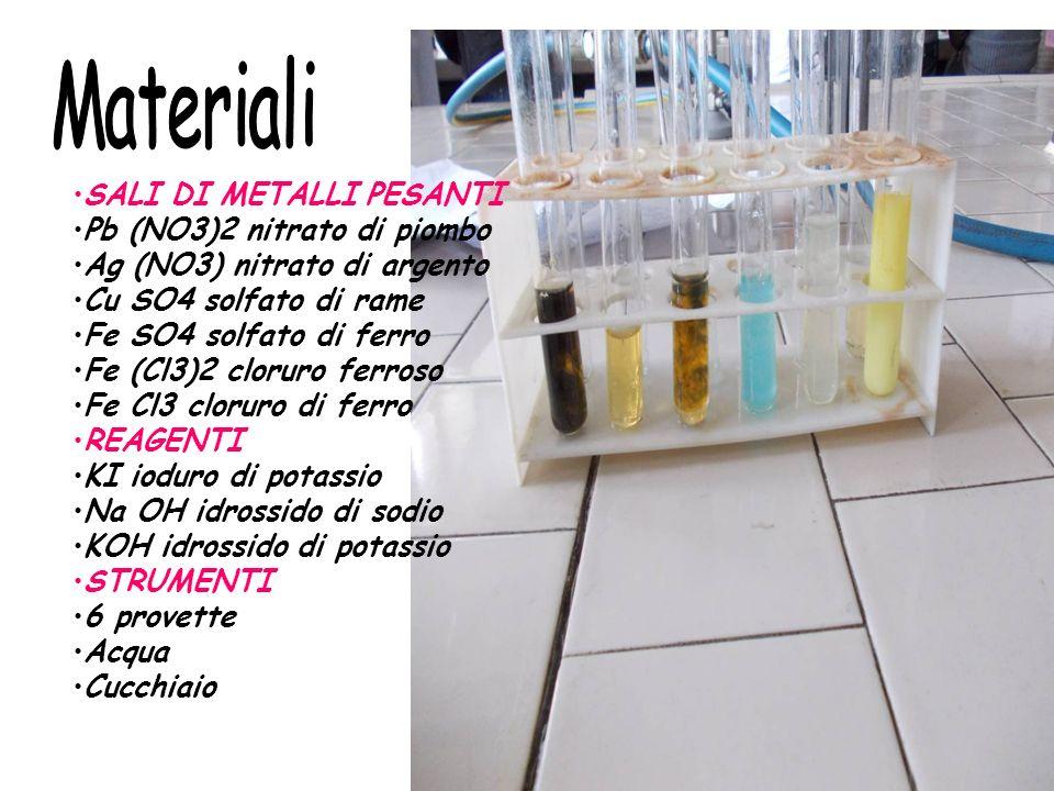 Materiali SALI DI METALLI PESANTI Pb (NO3)2 nitrato di piombo