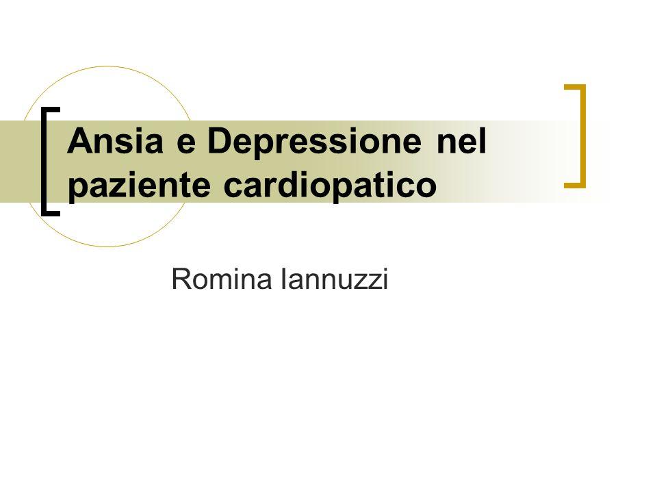 Ansia e Depressione nel paziente cardiopatico