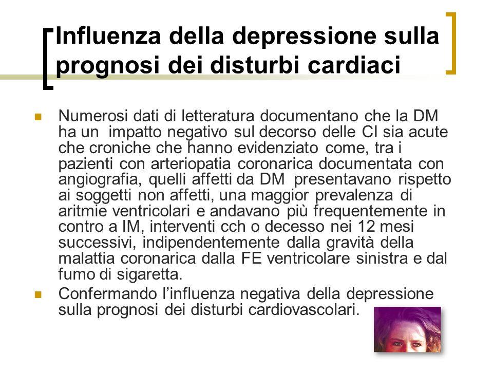 Influenza della depressione sulla prognosi dei disturbi cardiaci