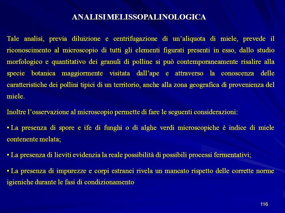ANALISI MELISSOPALINOLOGICA