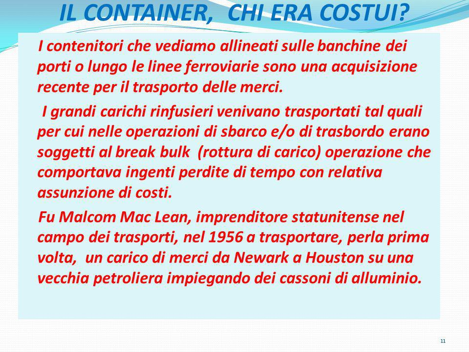 IL CONTAINER, CHI ERA COSTUI