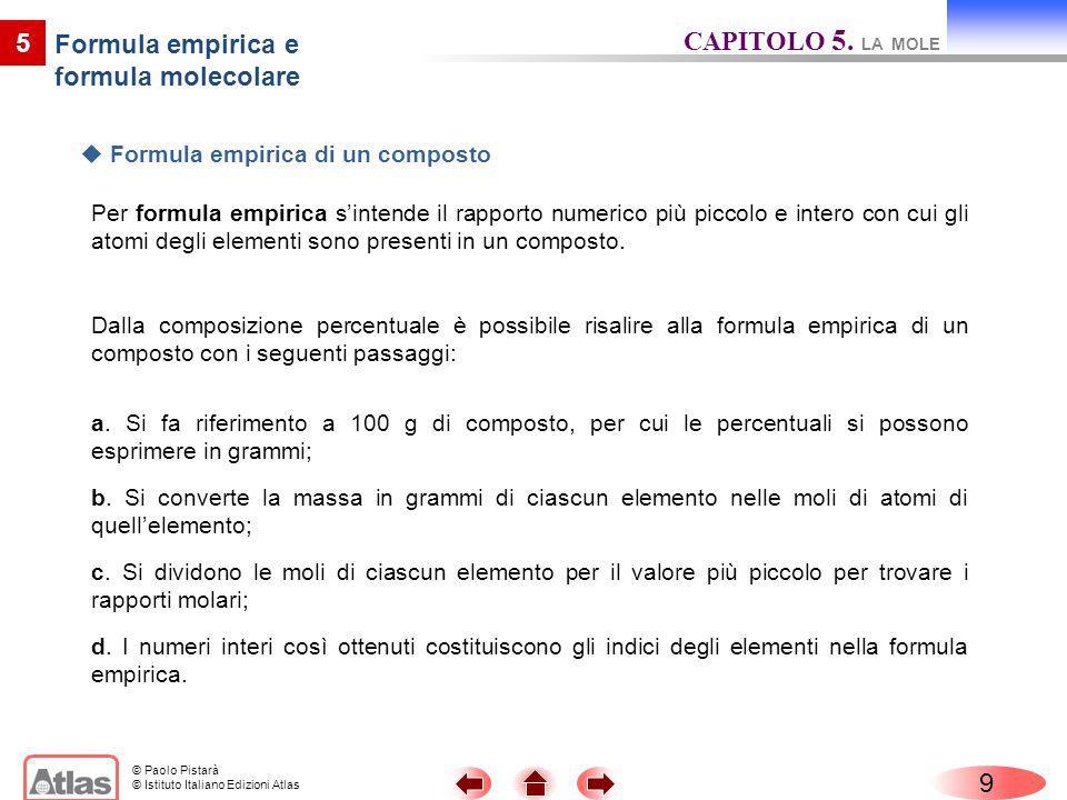 Formula empirica e formula molecolare