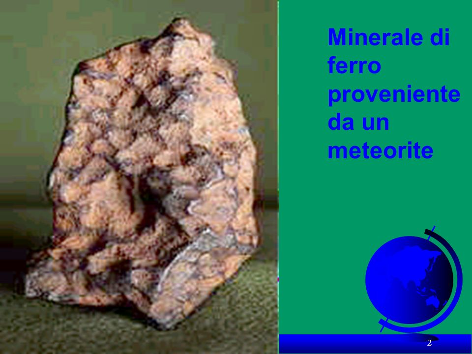 Minerale di ferro proveniente da un meteorite