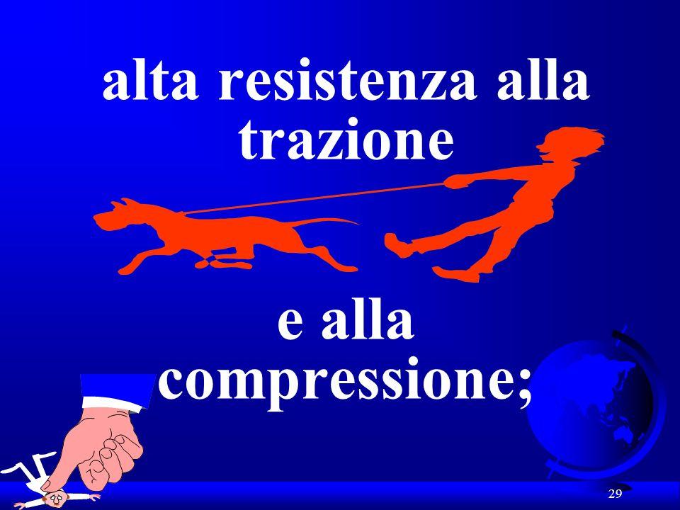 alta resistenza alla trazione e alla compressione;