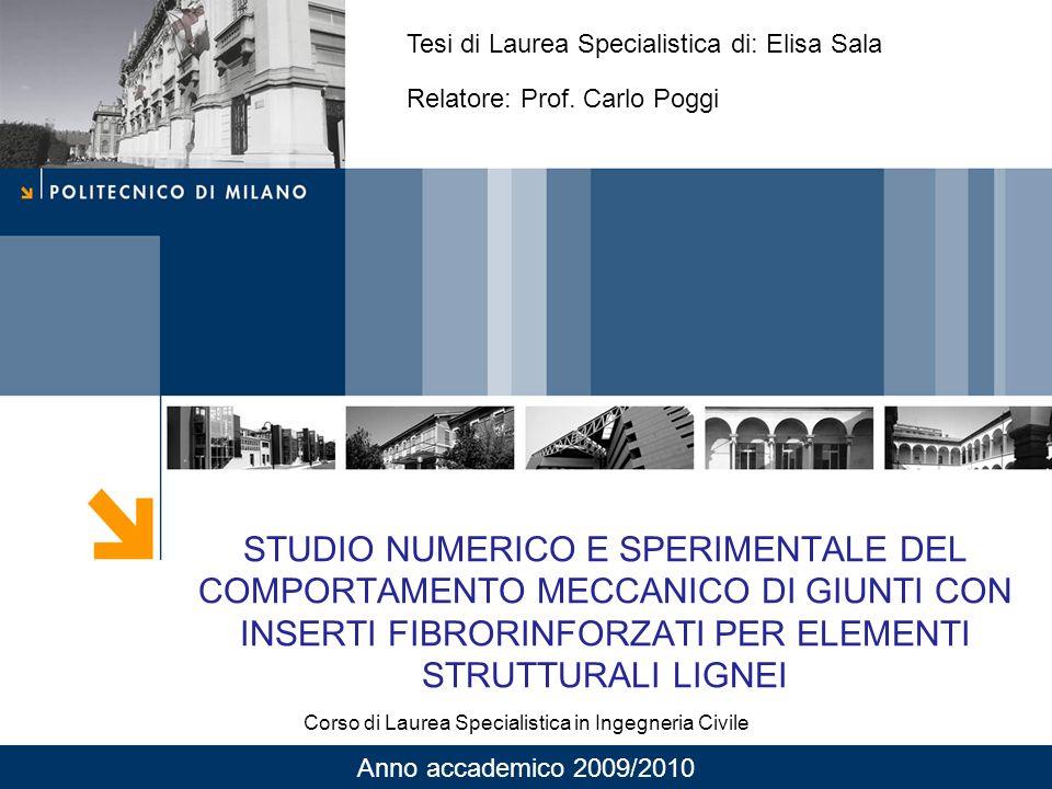 Corso di Laurea Specialistica in Ingegneria Civile
