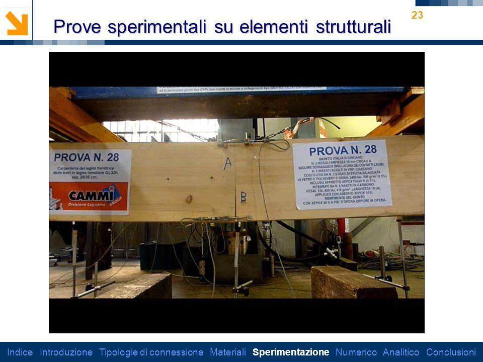 Prove sperimentali su elementi strutturali