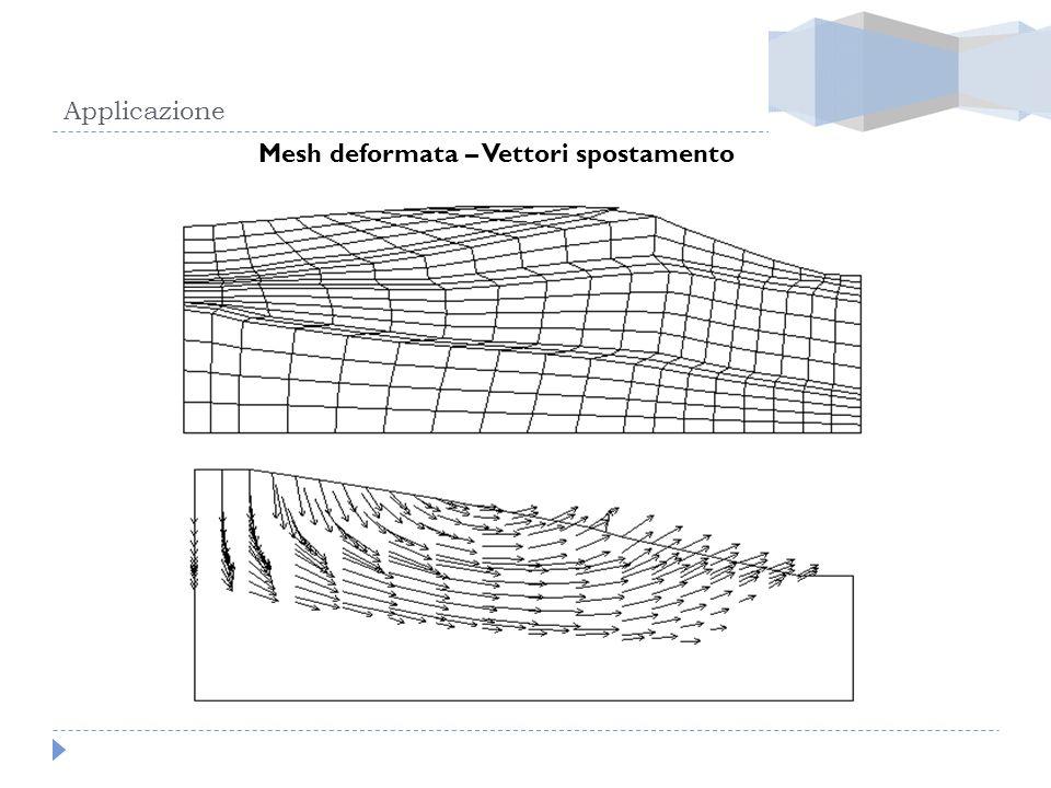 Mesh deformata – Vettori spostamento