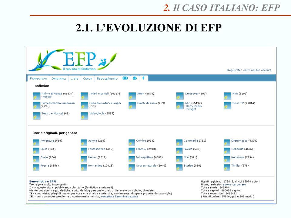 2. Il CASO ITALIANO: EFP 2.1. L'EVOLUZIONE DI EFP