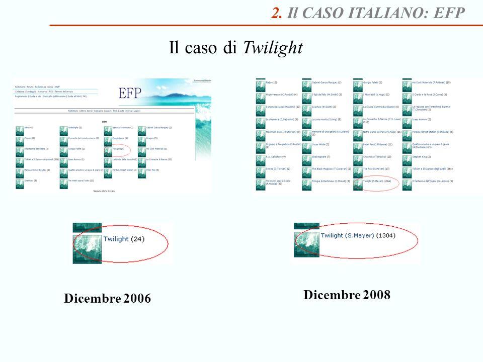 Il caso di Twilight 2. Il CASO ITALIANO: EFP Dicembre 2008