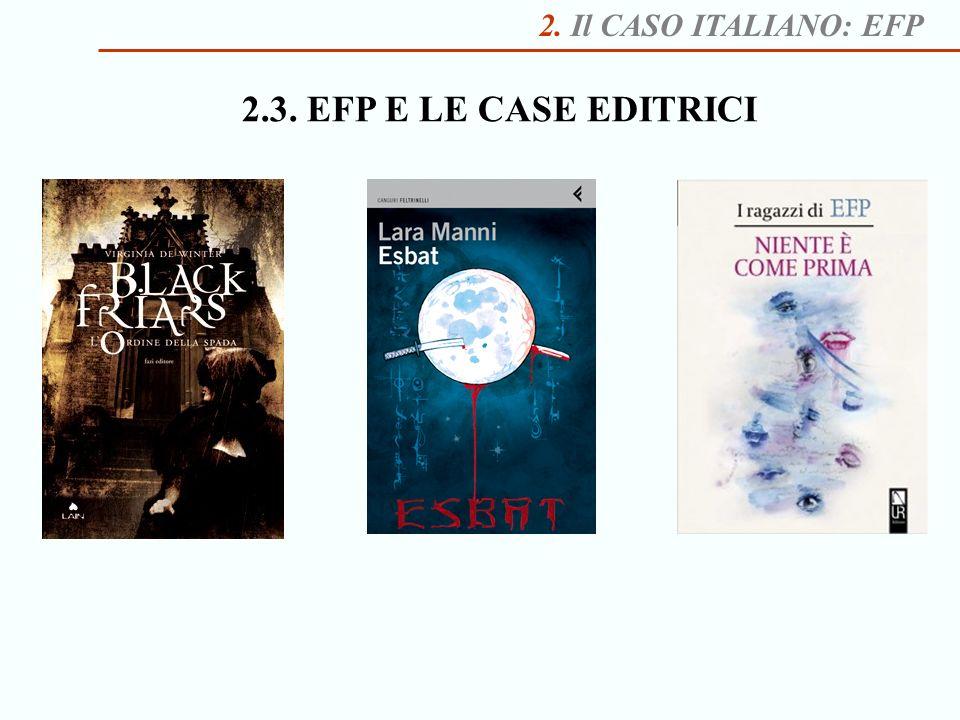 2. Il CASO ITALIANO: EFP 2.3. EFP E LE CASE EDITRICI