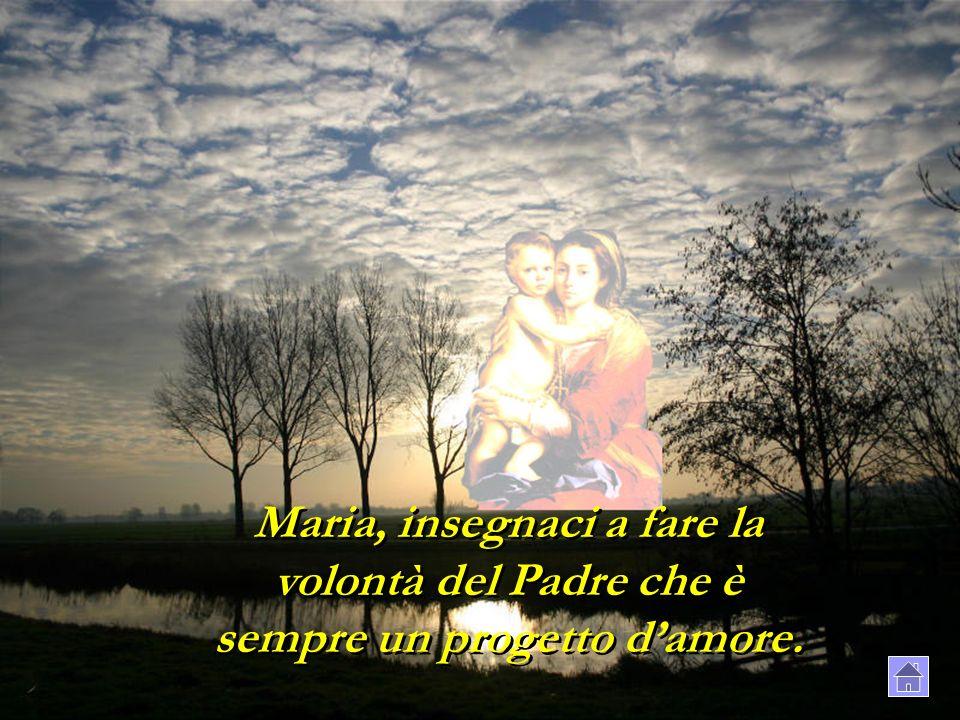 Maria, insegnaci a fare la volontà del Padre che è sempre un progetto d'amore.