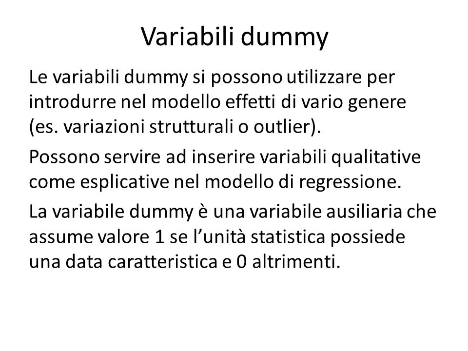 Variabili dummy