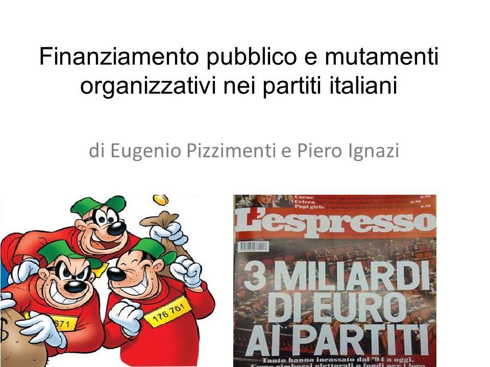 Finanziamento pubblico e mutamenti organizzativi nei partiti italiani