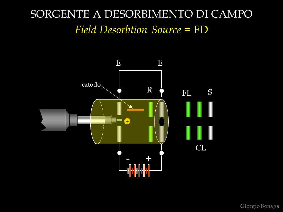 SORGENTE A DESORBIMENTO DI CAMPO Field Desorbtion Source = FD