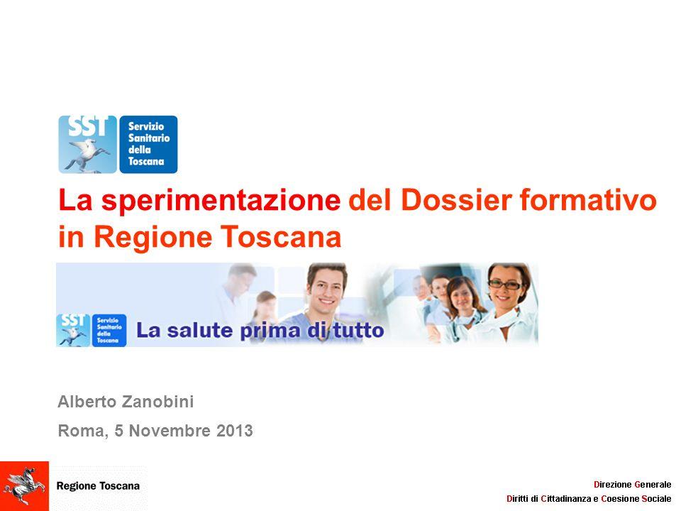 La sperimentazione del Dossier formativo in Regione Toscana