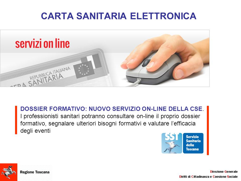CARTA SANITARIA ELETTRONICA