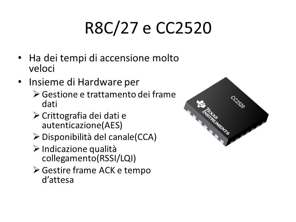 R8C/27 e CC2520 Ha dei tempi di accensione molto veloci