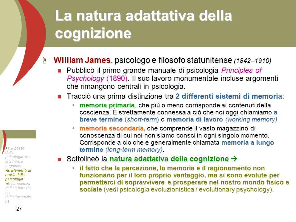 La natura adattativa della cognizione
