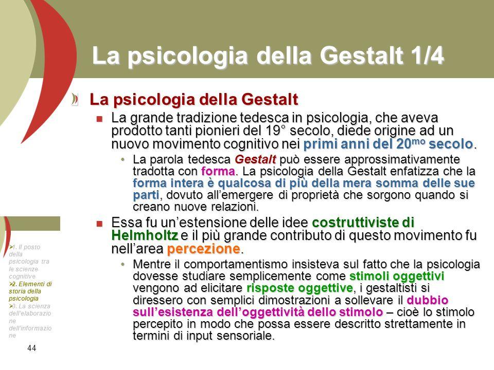 La psicologia della Gestalt 1/4