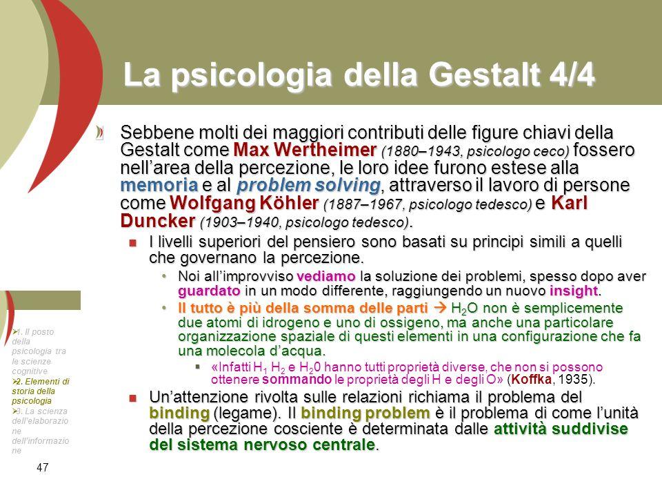 La psicologia della Gestalt 4/4