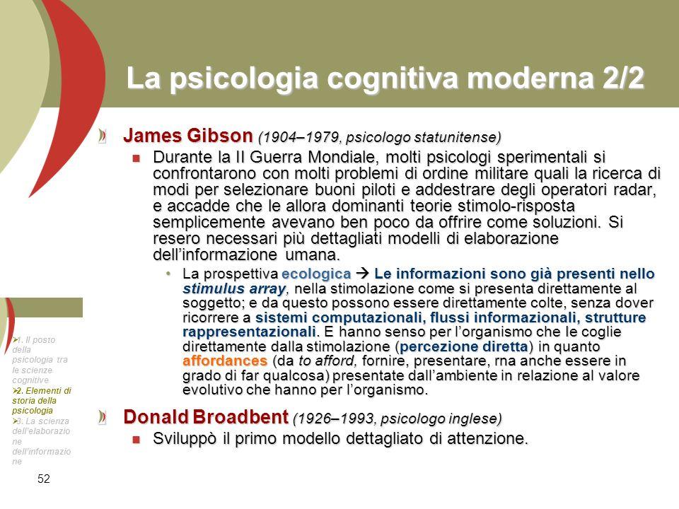 La psicologia cognitiva moderna 2/2