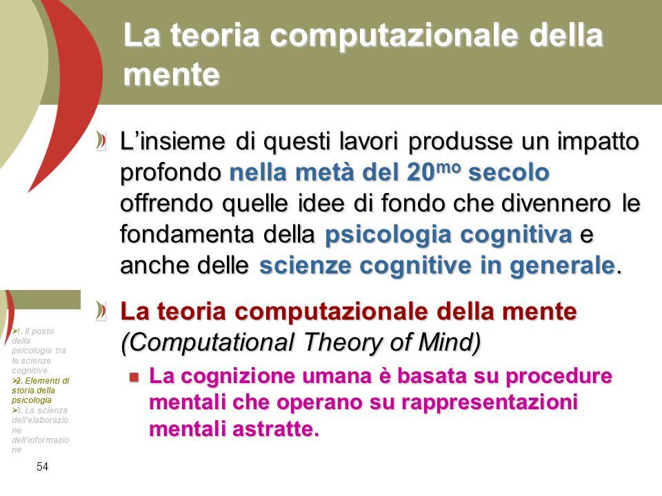 La teoria computazionale della mente