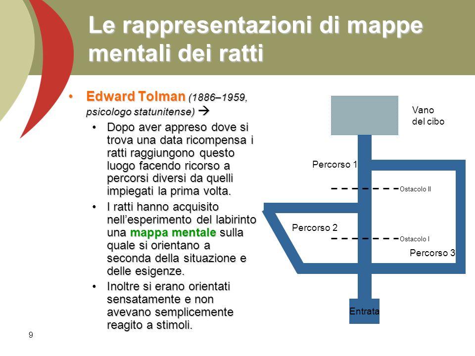 Le rappresentazioni di mappe mentali dei ratti