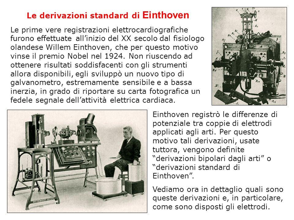 Le derivazioni standard di Einthoven