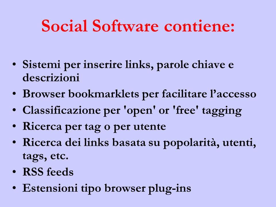 Social Software contiene: