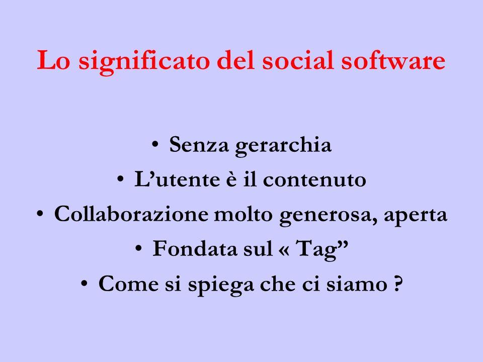 Lo significato del social software