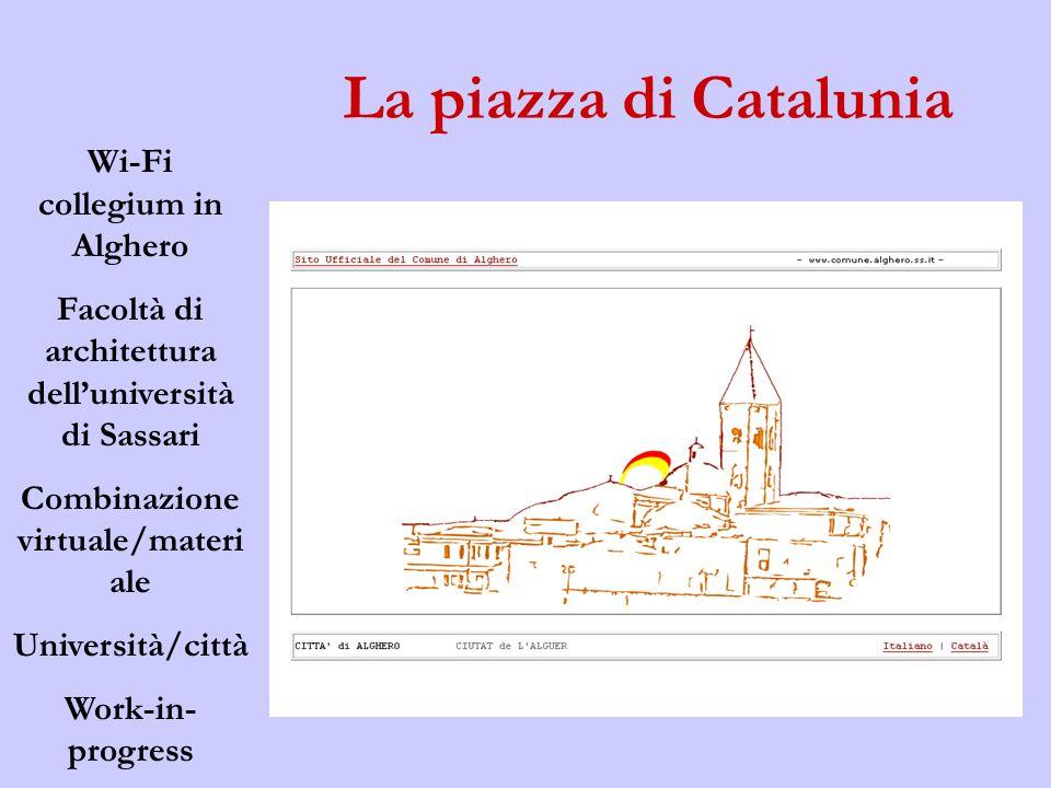 La piazza di Catalunia Wi-Fi collegium in Alghero