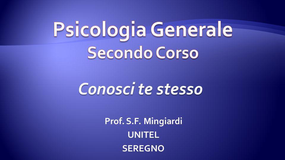 Psicologia Generale Secondo Corso