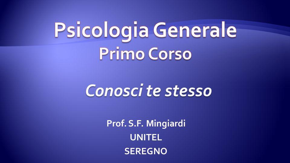Psicologia Generale Primo Corso