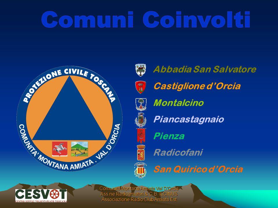 Comuni Coinvolti Abbadia San Salvatore Castiglione d'Orcia Montalcino