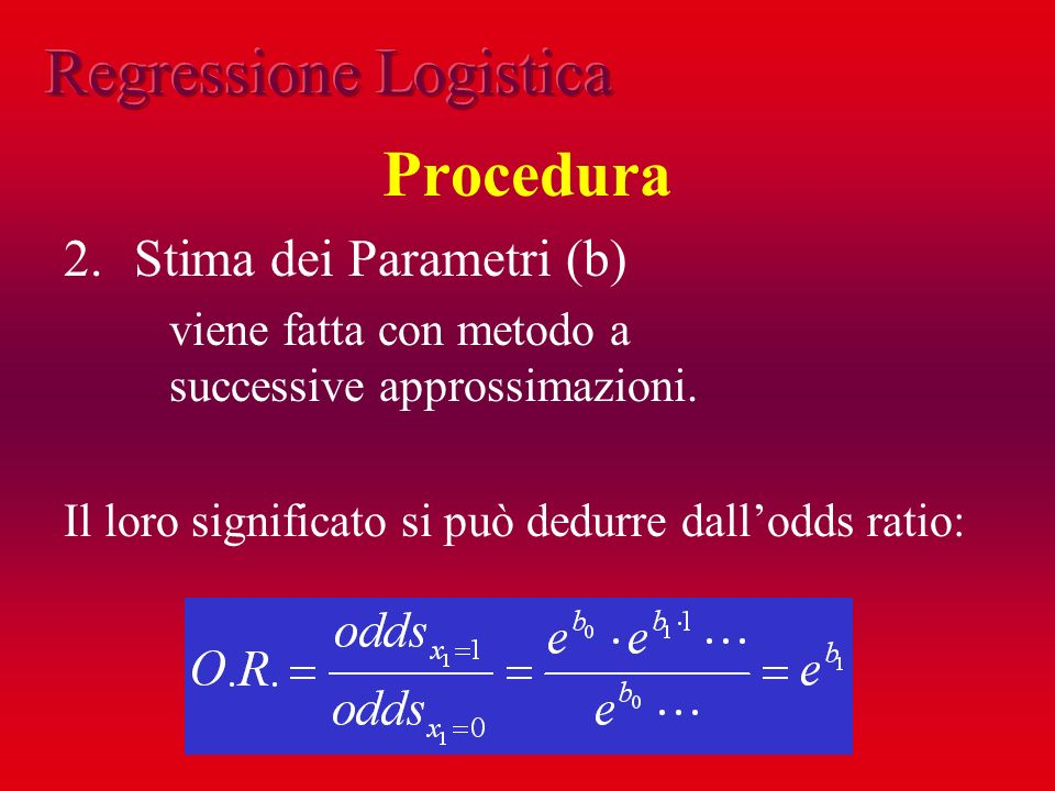 Regressione Logistica Procedura