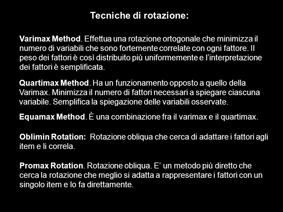 Tecniche di rotazione: