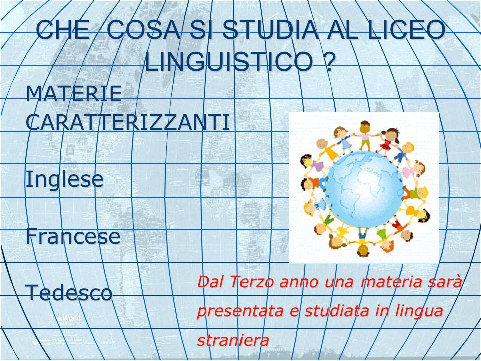 CHE COSA SI STUDIA AL LICEO LINGUISTICO