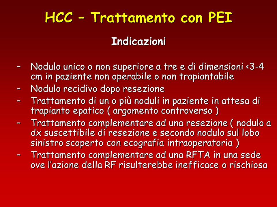 HCC – Trattamento con PEI
