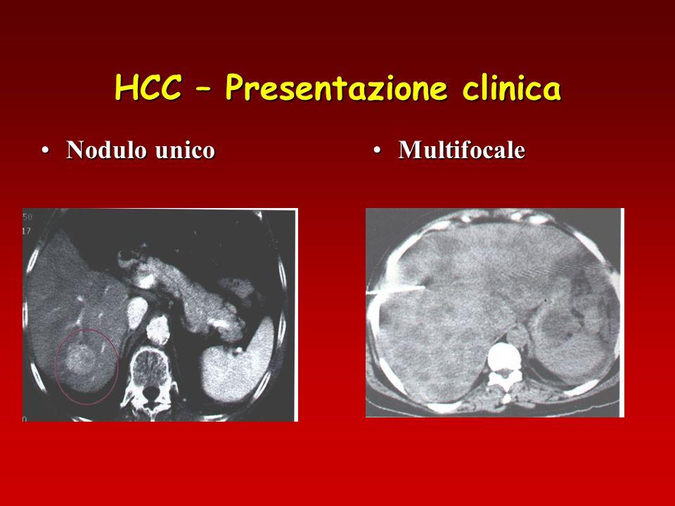 HCC – Presentazione clinica