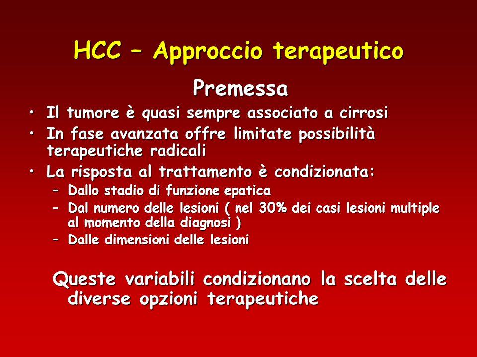 HCC – Approccio terapeutico