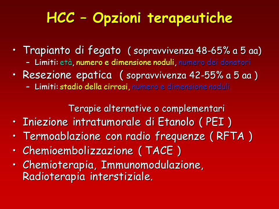 HCC – Opzioni terapeutiche