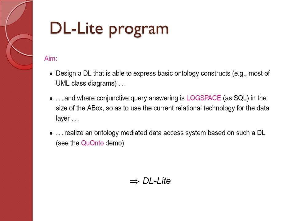 DL-Lite program