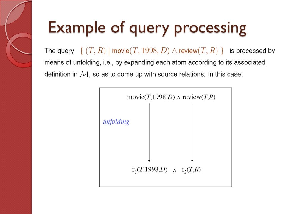 Example of query processing