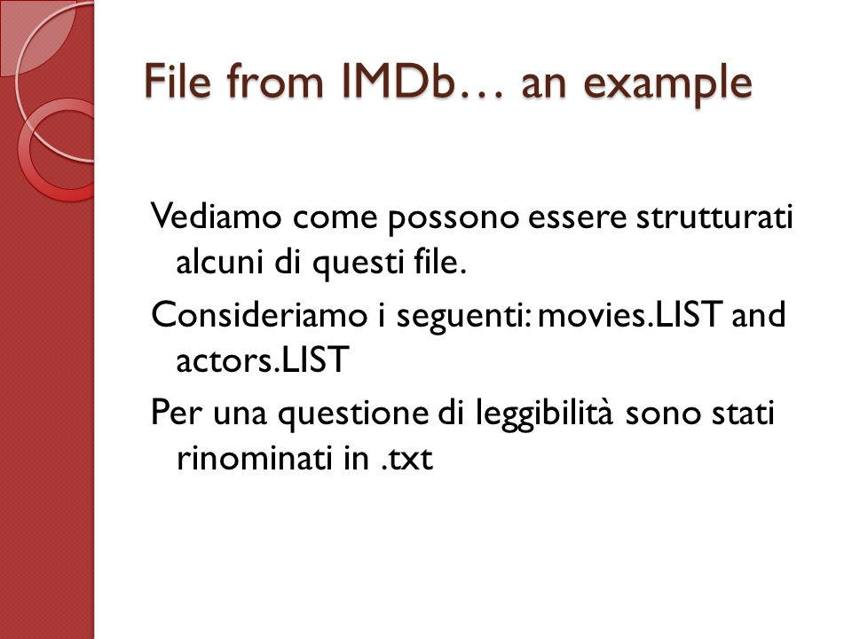 File from IMDb… an example