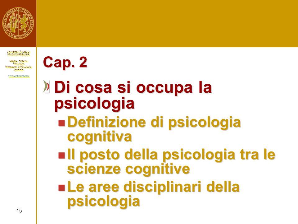 Di cosa si occupa la psicologia