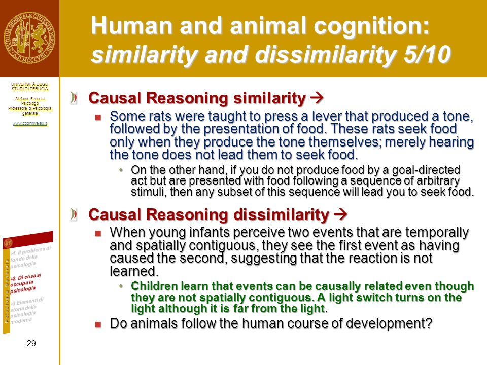 Human and animal cognition: similarity and dissimilarity 5/10