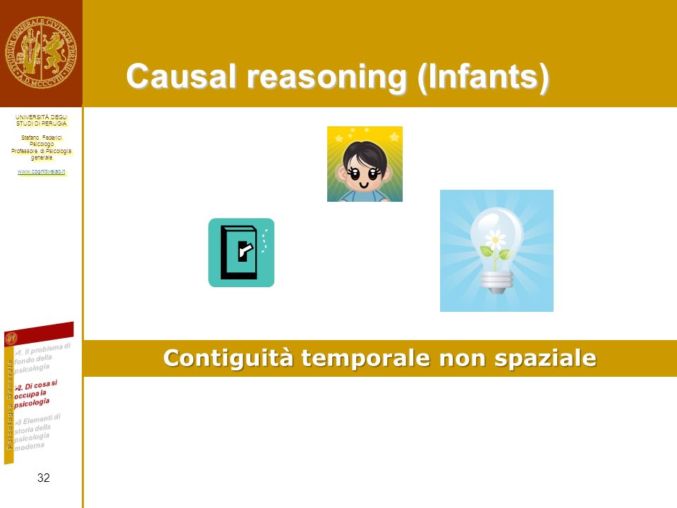 Causal reasoning (Infants)